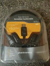 Plantronics Audio 655 DSP Black Stereo Headset USB 6.5 Foot Cable Mic *Open Box*