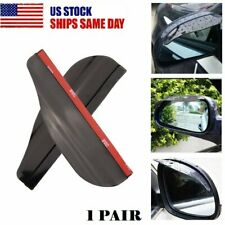1 Pair Car Rearview Mirror Rain Water Rainproof Eyebrow Cover Side Shield USA