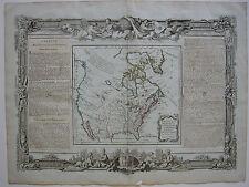 America USA New Mexico Lousiana col Copperplate map Brion 1766 Ornament
