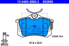 Bremsbelagsatz, Scheibenbremse für Bremsanlage Hinterachse ATE 13.0460-2860.2