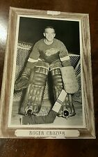 1964-67 GROUP 3 III SIGNED BEE HIVE CARD ROGER CROZIER RED WINGS SABRES CAPITALS