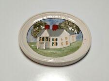 Vintage 1987 Sebastian Miniatures Festival Medallion Plaque Hudson #4143 Signed