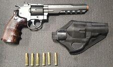 "WinGun Super Sport 702 Metal 6"" Revolver CO2 Airsoft Revolver with Holster"