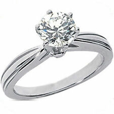 1 carat Round brilliant Diamond Wedding Engagement 14K White Gold Ring or Loose