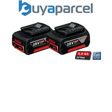2 X Bosch 18v 5ah Li-Ion Coolpack Batteries Lithium-Ion sans Fil 5,0 Ah