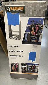 Gladiator GAWUXXGFTG Golf Caddy Storage Hammered Granite Heavy Duty Welded Steel