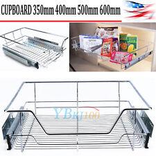 Wire Sliding Organizer Rack Kitchen Cabinet Storage Shelf Pull Out Basket Holder