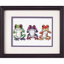 Dimensions-mini counted cross stitch kit-treefrog trio-D16758
