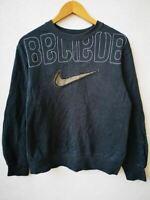 Vintage Nike Tag Navy Crewneck Sweatshirt Men's Size S/M Embroidered Swoosh