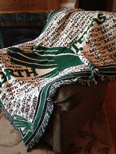 University of North Texas Eagles Mean Green Jacquard Woven Stadium Blanket NEW