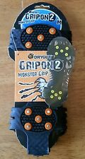 DryGuy GripOn 2 Monster Grip Shoe Boot Cover Size M 5 - 9 Snow Cleats