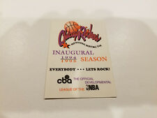Chicago Rockers 1994/95 CBA Basketball Pocket Schedule - TicketMaster