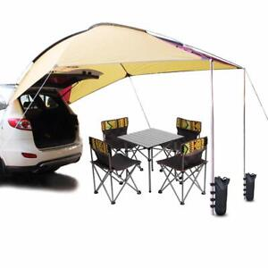 Waterproof  Trailer Awning Portable Car SUV Awning Tent Sun Shelter  4 Persons