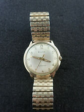 VINTAGE BULOVA WRISTWATCH CAL 11ALC KEEPING TIME
