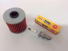 Kawasaki Bayou Spark Oil Filter & Spark Plug KLF220 KLF 220 1988-2002 250