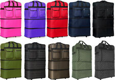 30'/36'/40' Expandable Rolling Duffel Bag Wheeled Spinner Suitcase Luggage