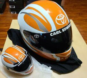 Brand Art Carl Edwards NASCAR Toyota Arris Racing Full Size Replica Helmet  NEW