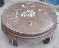 Antique Chinese Opium Table. Inlaid. Lacquer.