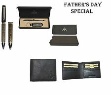 Father's Day Special- Leather Wallet and a Beautiful Pen