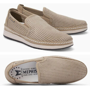 $285 MEPHISTO Hadrian Slip On Comfort LOAFERS 11 Sand Perforated Leather NEW