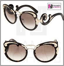 cd0f47f5461 PRADA WANDERER BAROQUE 07T Swirl Gold Dark Brown Havana Sunglasses PR07TS  Women