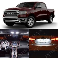 15 White LED interior lights package kit for 2019 Dodge Ram 1500 + Tool DR4W