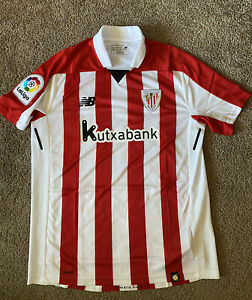 New Balance Athletic Bilbao Home Soccer Jersey NWT Size L Spain League