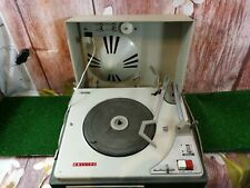 """Rare Vintage Philips AG 4025 wk 20 1 valve  Portable Record Player Turntable8"""""""