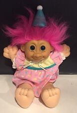 "Russ 12"" Plush Troll Doll Happy Birthday Pink Hair NWT"