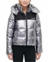 DKNY Ladies' Shine Puffer Detachable Hood Winter Jacket . XL