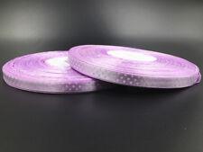 "10Yards 3/8"" 10mm  Polka Dot Ribbon Satin Craft Supplies crafts light purple"