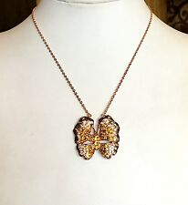 """""""NOLAN MILLER GLAMOUR COLLECTION"""" BEAUTIFUL CRYSTAL BUTTERFLY NECKLACE GORGEOUS!"""