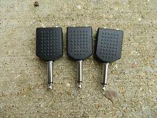 3x Dual 1/4 6.35mm Female Mono Jacks to 1/4 6.35mm Male Mono Plug - Y-Splitter