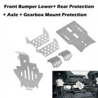 RC Traxxas TRX-4 Steel Axle Front Bumper Lower Gearbox Mount Rear Skid Plate Set