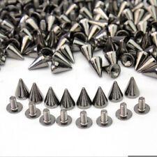 100x Black Spots Cone Screw Bag Shoe Studs Leathercraft Rivet Bullet Spikes Hot