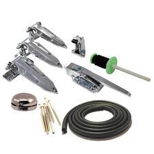Fridge Coolroom Door Kit – Latch Hinges Rubber Seal Safety Bell Fixing Screws