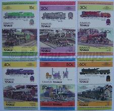 1984 FUNAFUTI Set #1 Train Locomotive Railway Stamps (Leaders of the World)