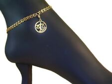 1-20 14K / 10inch Libra Anklet Libra Zodiac Sign Anklets/ Authentic Gold Filled