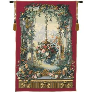 """Rotonde de Armide French Tapestry Wall Hanging H 80"""" x W 56"""""""