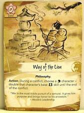 Legend of the Five Rings LCG - 1x #167 Way of the Lion - Base Set