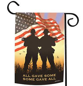 Toland Some Gave All 12.5 x 18 Patriotic America Veteran Memorial Garden Flag