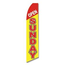 Open Sunday Banner Flag Only Advertising Sign Swooper Feather Flutter