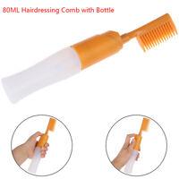 80ML Hair Dye Bottle Applicator Comb Dispensing Salon Hair Coloring Dyeing Tool