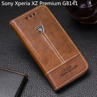 For Sony Xperia XZ Premium G8141 Flip Wallet Pu Leather Phone Case Back Cover