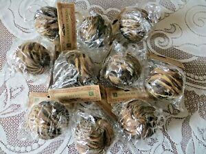 """LOT OF 10 - 3 1/2"""" BIRD FEATHER ORNAMENTS - RUSTIC CHRISTMAS ORNAMENTS - NATURAL"""