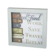 Travel Fund Framed Wall Hanging Money Box Gift With Glass Front MMM131-HS