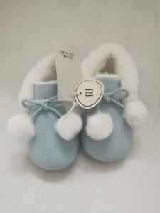 RIVER ISLAND Mini Boys Pom Pom Pram Shoes NEW WITH TAGS