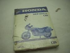 1981-82 CBX FACTORY ORIGINAL HONDA SERVICE SHOP MANUAL USED LOOSE LEAF