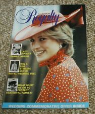 Royalty Monthly Magazine Issue No 1 July 1981. Princess Diana. First Issue