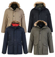 Threadbare Faux Fur Parka Jacket Men's Warm Hooded Padded Winter Coat